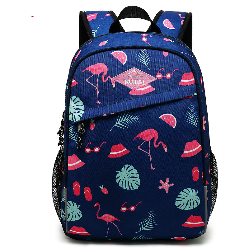 2019 Children Flamingo Printing School Bags for Teenager Girls Animal Dinosaur Schoolbag Kids Boys Car Primary School Backpacks(China)