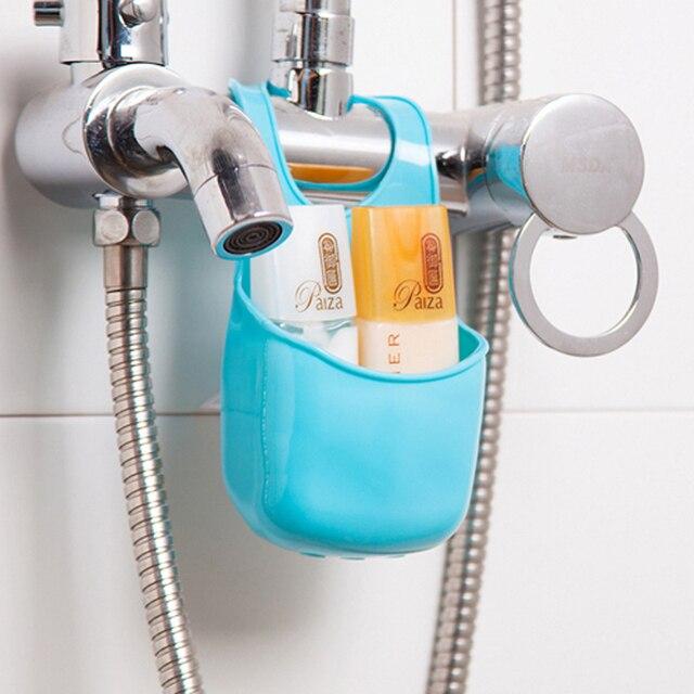 1 pz Colore Della Caramella di Plastica Lavello Attaccatura del Sacchetto di Immagazzinaggio di Modo Piatto di Sapone Organizer Box per la Cucina Bagno Set Accessori Contenitore
