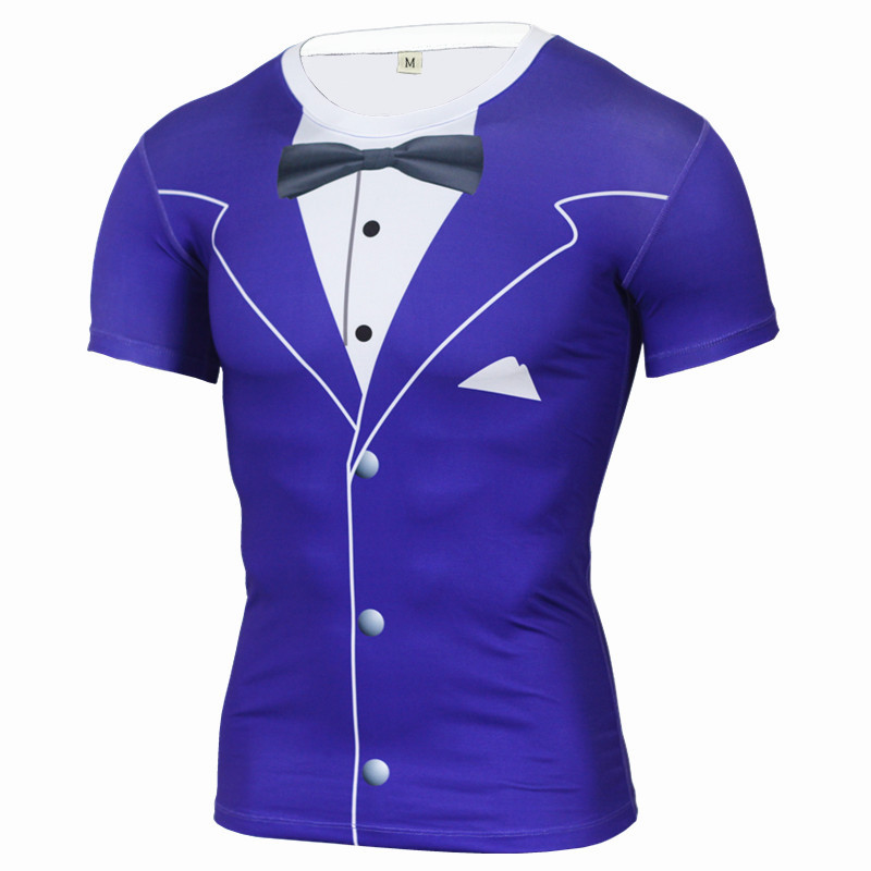 Nuevo divertido 3d Tuxedo imprimir compresión camiseta Marca Ropa Camisetas  Fitness Crossfit hombres camiseta más tamaño en Camisetas de Moda y  complementos ... 93d61fe0a518e