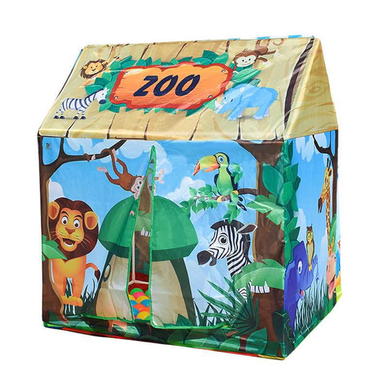 QWZ новые детские игрушки палатки складной портативный десертный дом Крытый открытый игровой палатки игровой коврик домик для игр с ковриком для детей лучшие подарки