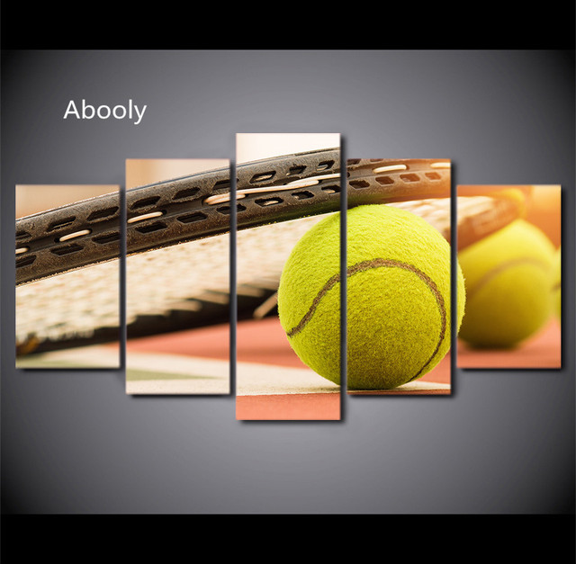 5 Piece Wall Art Golf Painting Framed Modular Wall Pictures for ...