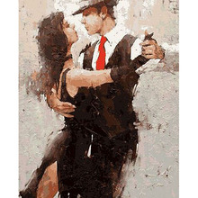 Frameless Deep Love Diy Digital Painting By Numbers Wall Art Acrylic Paint On Canvas Handpainted Oil Gift 40x50cm Arts