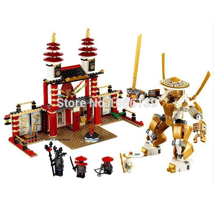 2017 New BELA  Phantom Ninja Final Battle Temple Of Light Golden Building Blocks Toys For Children Gift Compatible With Lego phantom page light