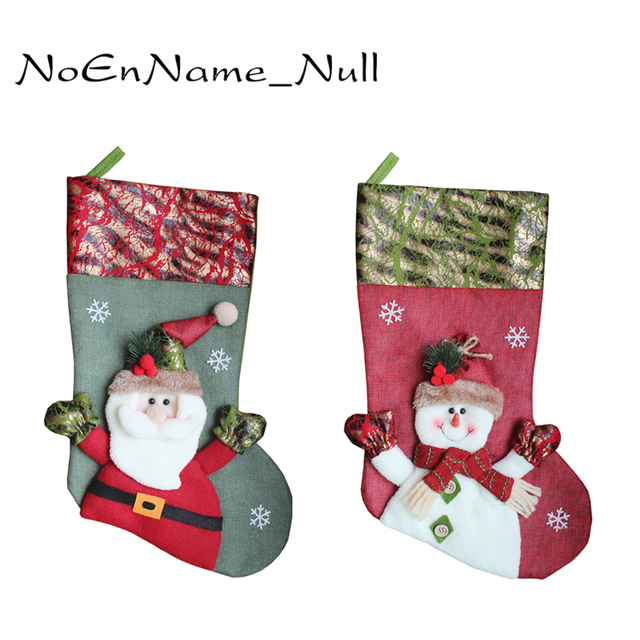 christmas stocking big size santa claus snowman elk sock christmas gift bags candy bags christmas decoration - Big Christmas Stockings