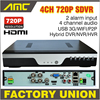 Upgrade 720P Realtime Recording CCTV 4CH AHD H 264 DVR 4 Channel Hybrid HVR NVR DVR