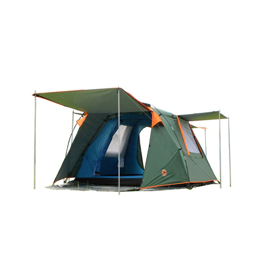 DESERTCAMEL CS088 Fully Automatic Double Layers Tent Dual Doors Square Roof Tent With Br ...