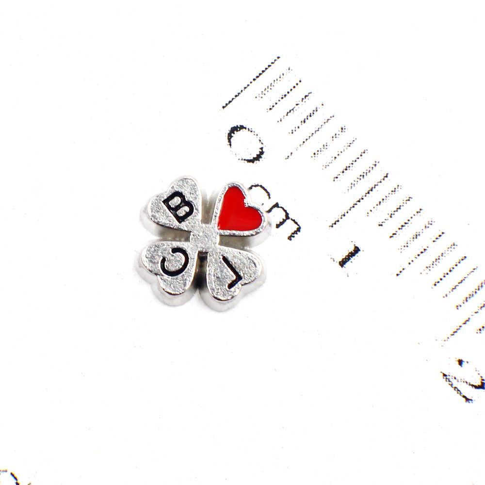 10 Pcs Clover FC1557 Partai Besar Liontin Pelampung Memori Charms Fit untuk Memori Liontin DIY Aksesoris Keluarga Anak-anak Teman Hadiah