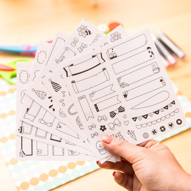 6 sheets/lot calendar paper sticker DIY scrapbooking diary sticker kawaii stationery toy for kids цена 2017