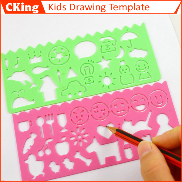 4pcslot kids diy plastic picture drawing template set childrens stencils for painting free shipping - Kids Drawing Stencils