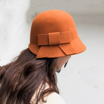b010febeb585e9 Fedoras Item Type, Style Casual with Material Wool, Gender Women and  Pattern Type Solid, including: Adult Department Name, 56-58cm adjustable  size, ...
