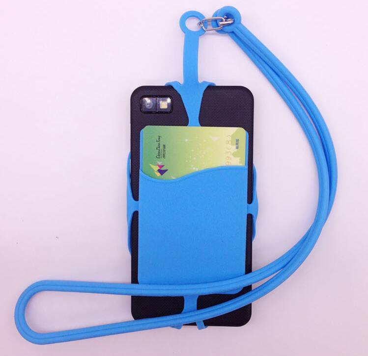 Универсальный защитный силиконовый телефон смарт-кошелек/силиконовый держатель карты с ремешком для iPhone Samsung телефона