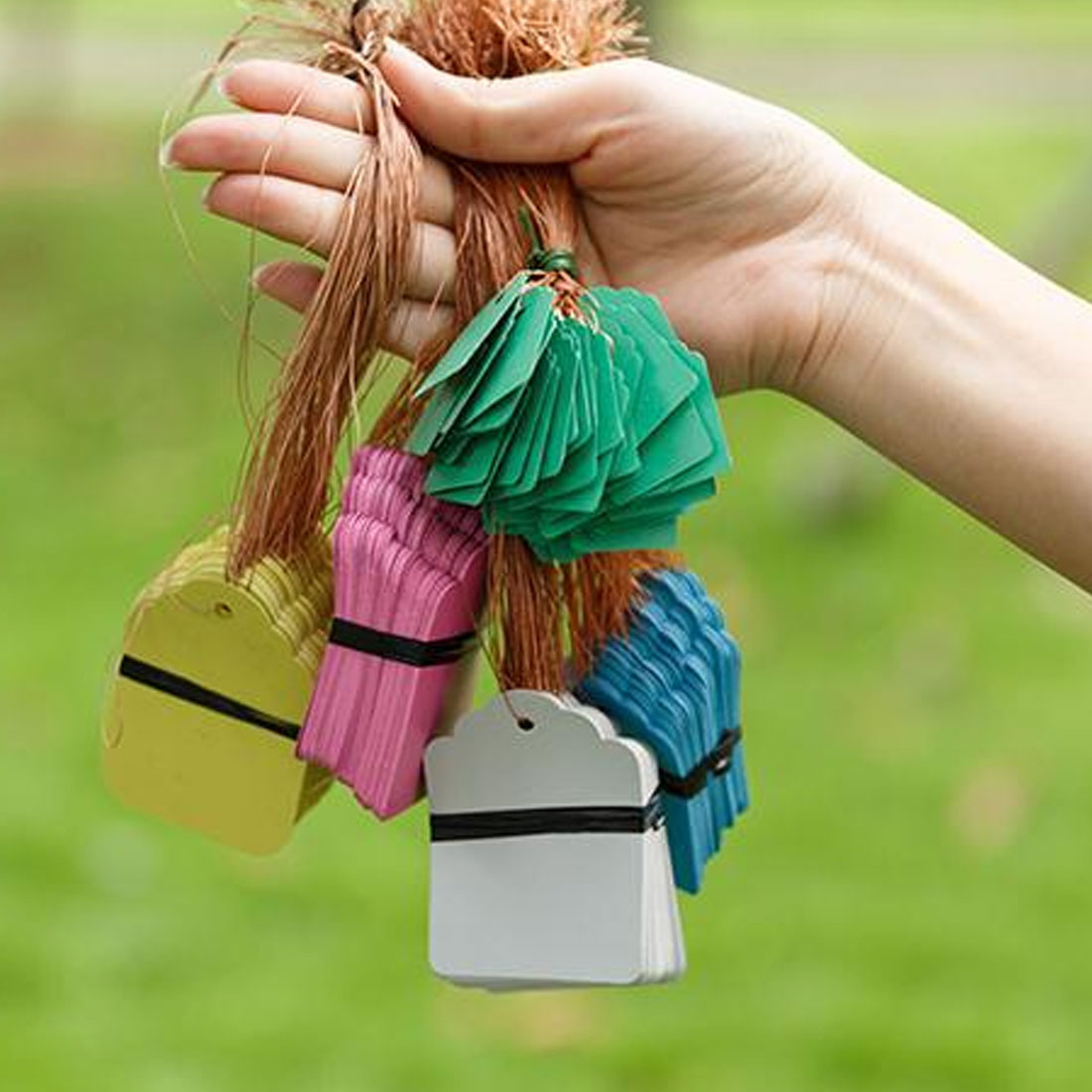 Reusable 100pcs Plants Hang Tag Labels Seeding Garden Flower Pot Plastic Tags Number Plate Hangting PVC Garden Tools