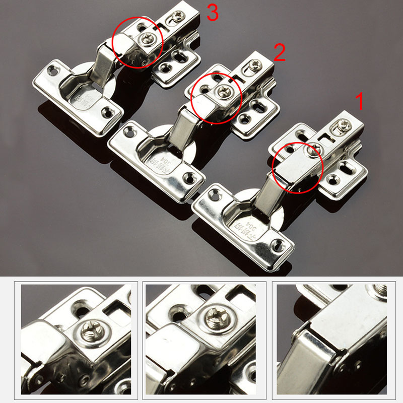 Universal Stainless Steel Kitchen Bedroom Hinge Door Hinges Damper Buffer For Cabinet Cupboard Closet Wardrobe Furniture HG99 dsha hot 10x soft close kitchen cabinet door hinge hydraulic slow shut clip on plate