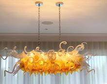 Hot Sale Custom Hand Blown Glass Crystal Chandelier Lighting LED Hanging Chandelier Light Fixtures white glass crystal chandelier led light fixture home decorations chihully style hand blown modern chandelier light