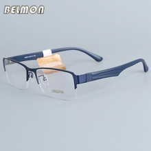 Belmon Eyeglasses Frame Men Computer Optical Prescription Myopia Nerd Clear Lens Eye Glasses Spectacle For Male RS16009