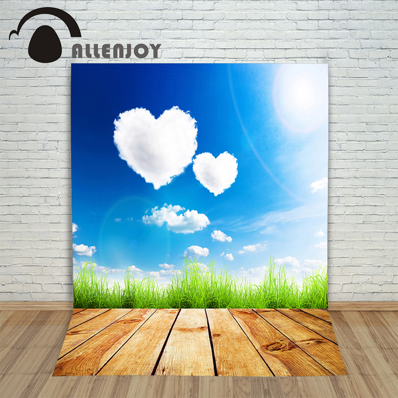 Vinyl photo studio background Board of wood grass photocall products Allenjoy backdrops
