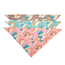 Dog Scarf Cute Unicorn Printed Cotton Dog Bandana for Small Medium Dog Accessories Blue Pink Grey lovely cotton dog vest for small dog grey