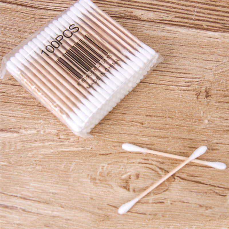 1/5packs Women Beauty Makeup Cotton Swab Double Head Cotton Buds Make Up Wood Sticks Nose Ears Cleaning Cosmetics Health Care