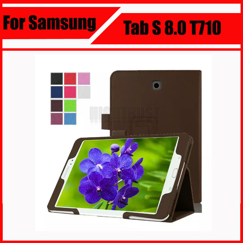 3 in 1 Hot Sale Litchi skin Pu Leather stand Case cover For Samsung Galaxy Tab S2 8.0 T710 T715 8 tablet + Stylus + Screen Film