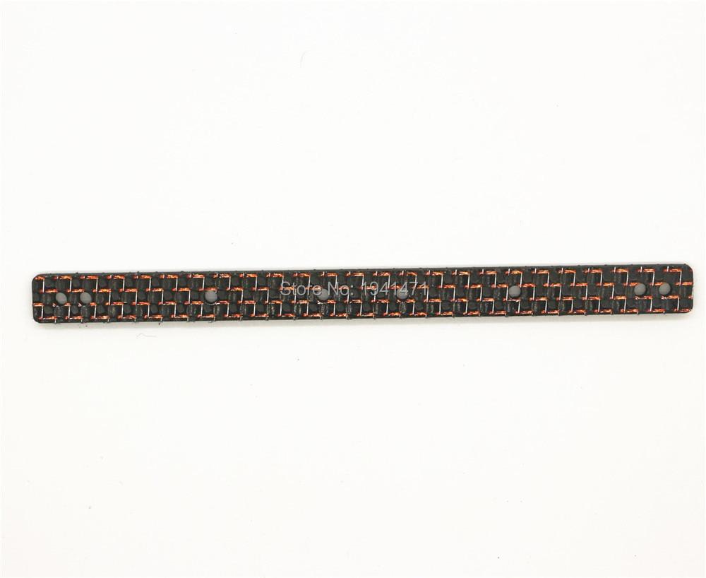 RFDTYGR RC Mini 4wd 2mm HG pjesë pllaka përforcuese të karbonit për përbërësit e fibrave të karbonit Tamiya MINI 4WD C029-1 3Pcs / lot