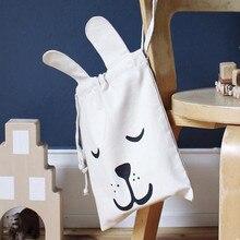 1 STÜCK Mini Kleinen Protable tasche für baby spielzeug, Leinwand Mode Cartoon Wickeltasche Für Babywindel Aufbewahrungstasche 23*27 Mt