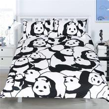 CAMMITEVER Panda Biancheria Da Letto Set Copripiumino Con Federe Animale Tessuti Per La Casa 3 pezzi Biancheria Da Letto