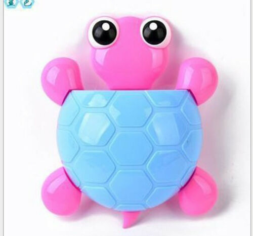 Cute Popular Multi-Function Tortoise Toothbrush Holder Cartoon Wall Suction Toothpaste Rack For Kid Boys Babies Bathroom