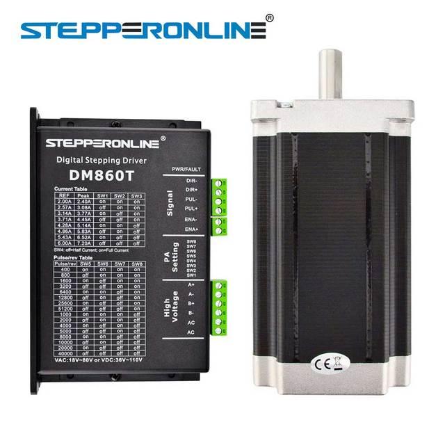 1 Axis CNC Kit 13Nm/1841oz.in Nema 34 Stepper Motor & Driver CNC Mill Router Lathe Robot