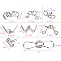 8PCS/lot Different Patterns 3D Interlocking Metal Puzzle IQ Wire Brain Teaser Game for Children Adults Kids