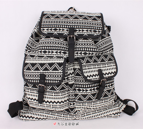 BELLA TOTE- New arrival single black geometric patterns graphic mossimo  backpack school bag travel bag 90657623742aa