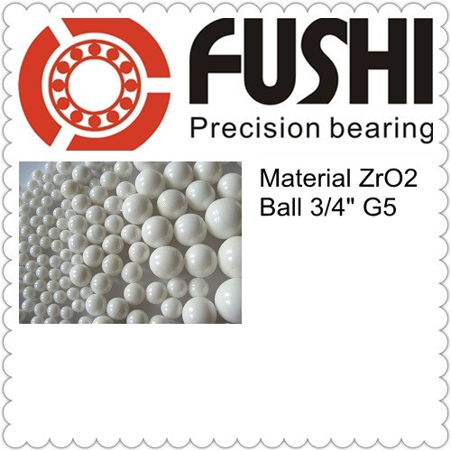 Free Shipping 1 pc Loose Ceramic Balls 3 4 19 05mm G5 Grade Quality ZrO2 Zirconia