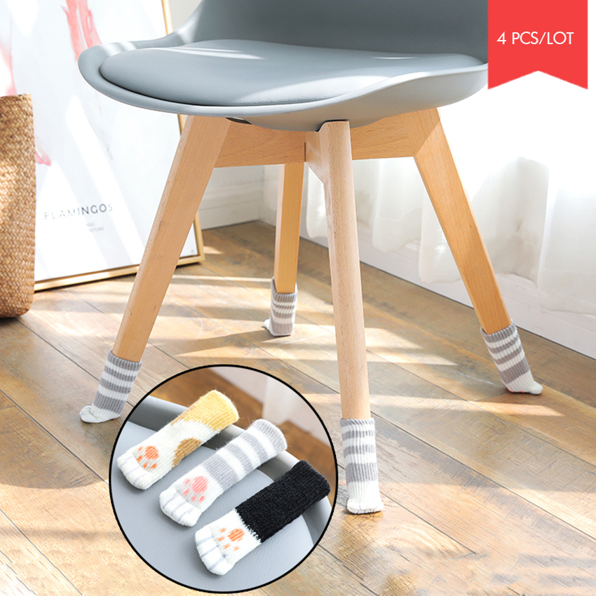 4 PCS/Lot Cat Claw Shape Chair Leg Cover Thickened Knitting Chair Leg Sock Hardwood Floor Protectors Slient Furniture Legs Cover4 PCS/Lot Cat Claw Shape Chair Leg Cover Thickened Knitting Chair Leg Sock Hardwood Floor Protectors Slient Furniture Legs Cover