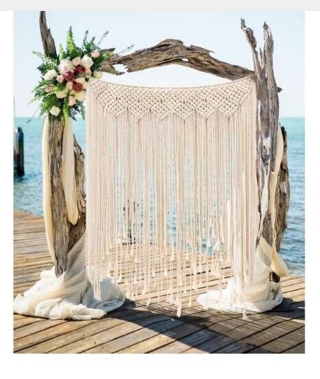 Фон для фотосъемки в стиле бохо, свадебное украшение, макраме, 100x115 см