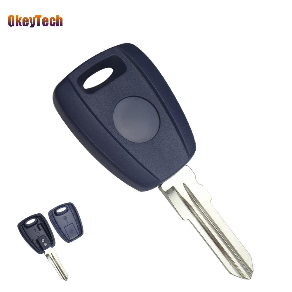 Okeytech для Fiat кодовый Ключи В виде ракушки чехол для Fiat Stilo Punto Seicento брелок Нет Чип Uncut пустой GT15R лезвие без логотипа