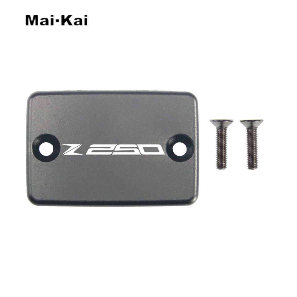 MAIKAI For KAWASAKI Z250 2013 2017 CNC Aluminum Motorcycle Brake Fluid Fuel Tank Cap Cover in Covers Ornamental Mouldings from Automobiles Motorcycles