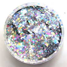 1pack Flakes Nails 3MM Hexagon Laser Glitter Flake Tattoo-Body-Eye Shadow 50G/BAG 50g Nail TE73994