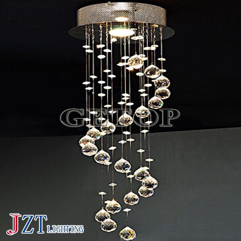 J best price  J best price crystal Pendant Light Bubble Column double entry Droplight luxurious Villa Spiral crystal lamps best price 5pin cable for outdoor printer