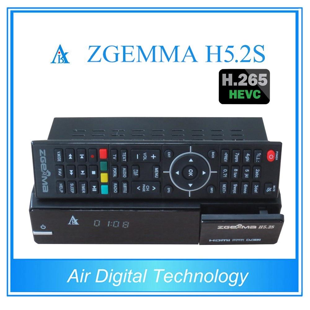 2pcs/lot ZGEMMA H5.2S FTA Satellite Receiver BCM73625 Linux OS Enigma2 Dual Core DVB-S2+S2 Twin Tuners With HEVC/H.265 Decoding 2pcs lot 2017 newest official version zgemma h5 2tc multistream satellite cable receiver h 265 dvb s2 2 dvb t2 c dual tuners