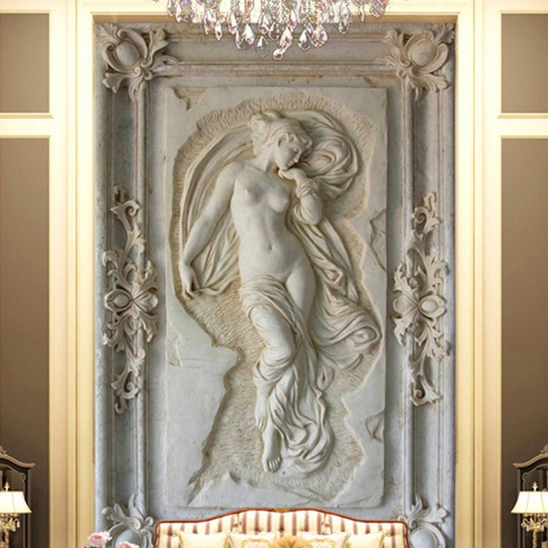 Custom Photo Wallpaper European Style 3D Embossed Figure Statue Mural Hotel Living Room Backdrop Wall Papers Papel De Parede 3 D