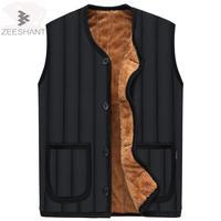 Zeeshant Mens Vests Autumn Thick Warm Men S Vests Fashion Solid Male Vests Sleeveless Jacket Man