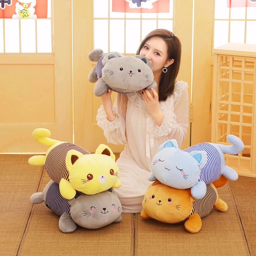 Plush Cat Pillow With Blanket Stuffed Animals Soft Toys For Children Girls Birthday Sleeping BedroomPlush Cat Pillow With Blanket Stuffed Animals Soft Toys For Children Girls Birthday Sleeping Bedroom