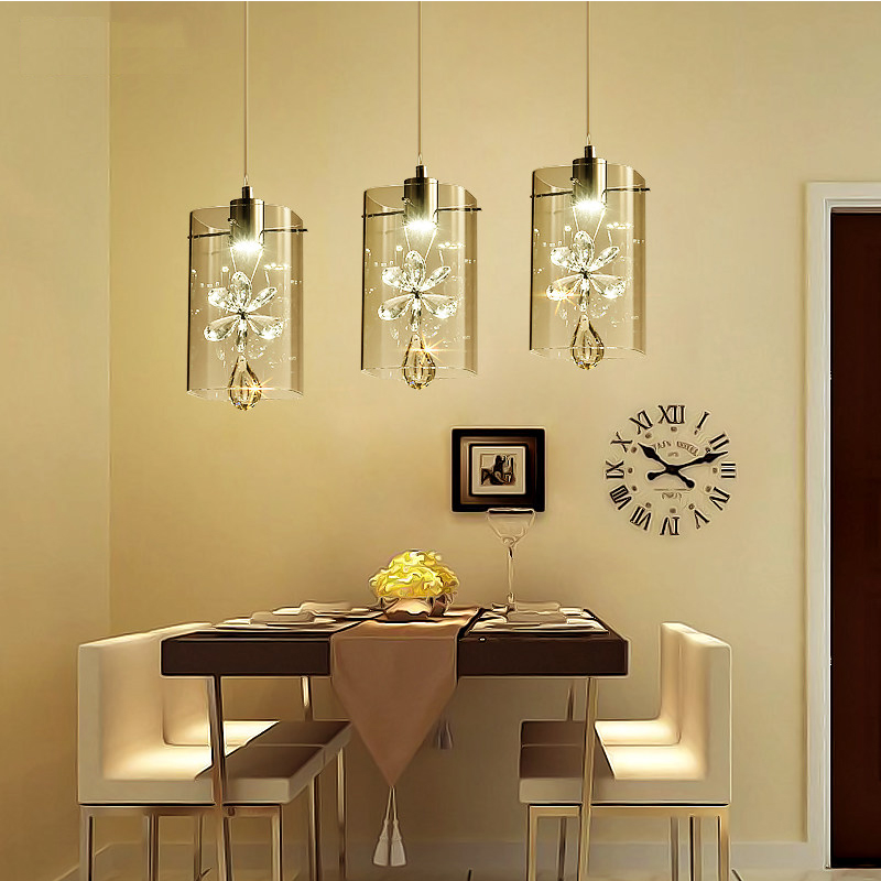 Nordic led pendant lights crystal design simple pendant lamp glass bar bedroom dining room modern pendant lighting glass shade 2017 modern surface mounted pendant lights crystal white shade acrylic led pendant light design for dining room study parlor