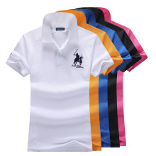 Женские рубашки-поло, летняя мода, женская Повседневная рубашка поло с отложным воротником, короткий рукав, хлопок, одноцветная тонкая рубашка, топы