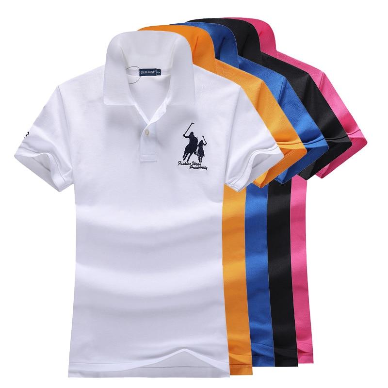 Women POLO Shirts Summer Fashion Women Turn-down Collar Casual Polo Short Sleeve Cotton Solid Slim Shirts Tops