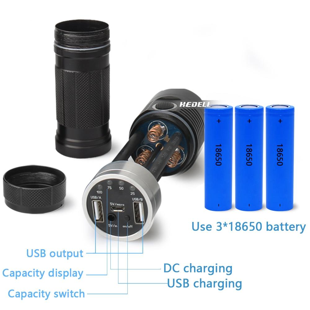 xhp70.2 led dynamo flashlight usb powerful led flashlight xhp70.2 spotlight hunting lanterna torch flash light 18650 led zaklamp - 4