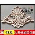 Dongyang escultura em madeira applique FLOR Europeia armários móveis de madeira esculpida flor portão atacado