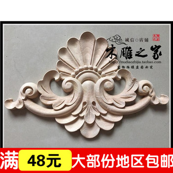 Dongyang woodcarving FLOWER applique European wood furniture cabinets carved flower gate wholesale