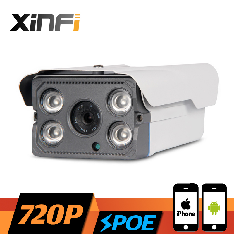 XINFI HD 1.0 MP CCTV POE camera night vision Outdoor Waterproof network CCTV 1280*720P IP camera P2P ONVIF 2.0 remote view