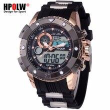 05ef80546ae 2018 Nova HPOLW Marca de Topo Homens De Luxo Esporte Relógios Homem Relógio  De Pulso Dos Homens Digital LED relógio de Pulso Mas.