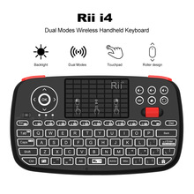 лучшая цена Rii i4 Mini Bluetooth Keyboard 2.4GHz Dual Modes Handheld Fingerboard Backlit Mouse Touchpad Remote Control for Windows Android